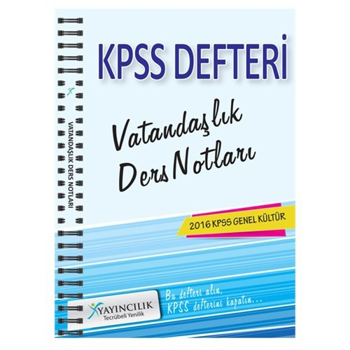 X Yayınları Kpss 2016 Vatandaşlık Ders Notları