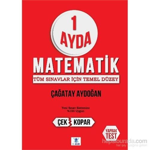 1 Ayda Matematik Deneme Sınavı 1-2-3 Çek Kopar Yaprak Test