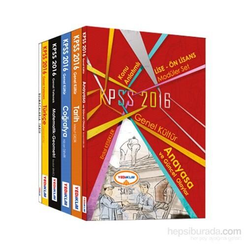 Yediiklim KPSS 2016 Lise Ön Lisans Konu Anlatımlı Modüler Set (6 Kitap)