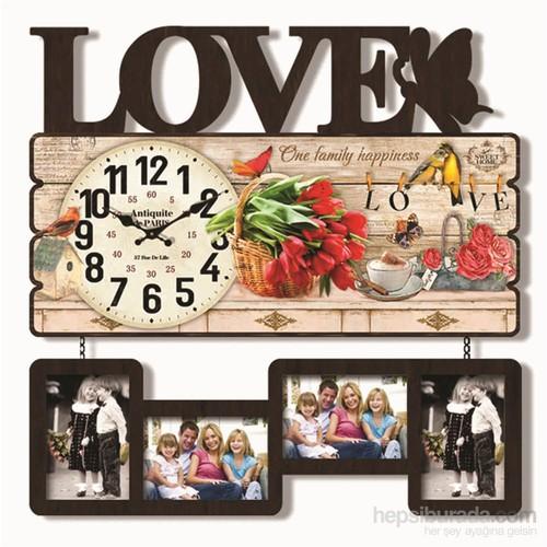 Sevgi Mdf Çerçeveli Duvar Saati