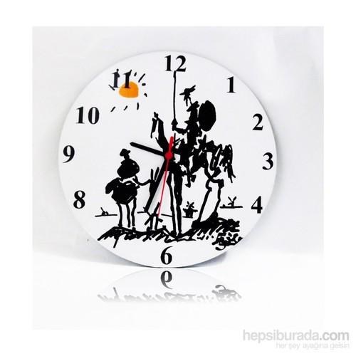 Köstebek Picasso - Don Kişot Ahşap Duvar Saati