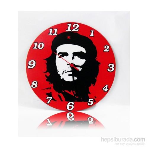 Köstebek Ernesto Che Guevara Ahşap Duvar Saati