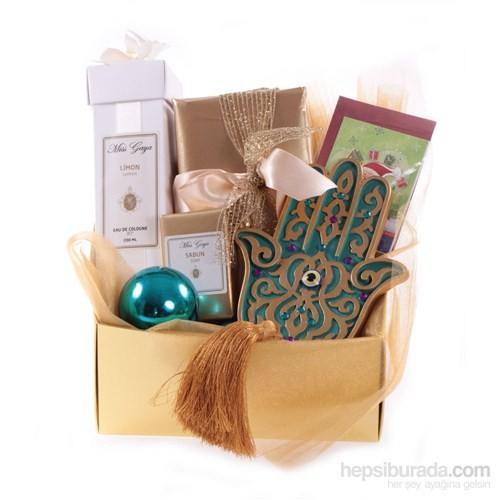 Beyaz Geyik Kapaklı Gold Yılbası Kutusu 6