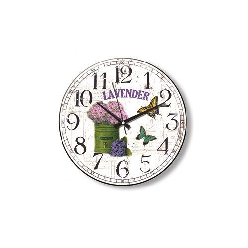 Time Gold Side Duvar Saati Lavender