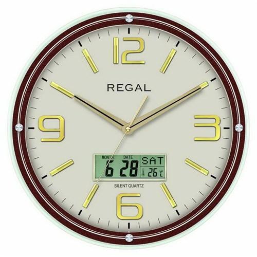 Regal0543-Agz Takvimli Isı Ölçer Duvar Saati