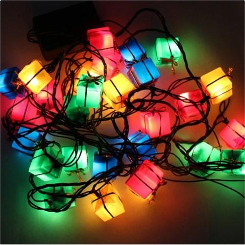 Artte Hediye Paketi Şeklinde Renkli Işıklandırma