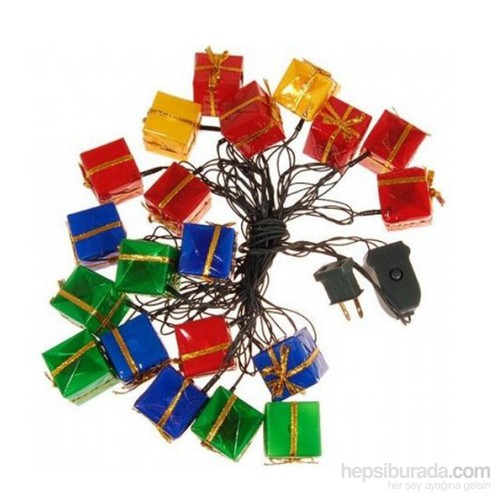KullanAtMarket Yılbaşı Hediye Paketi Renkli Işık