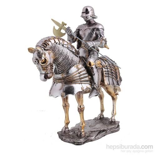 Atlı Şövalye Figürlü Biblo
