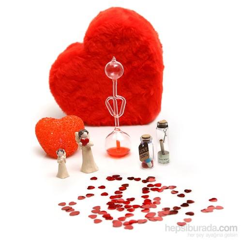 Sevgililer Günü Romantik Hediye Peluş Kalp Kutu