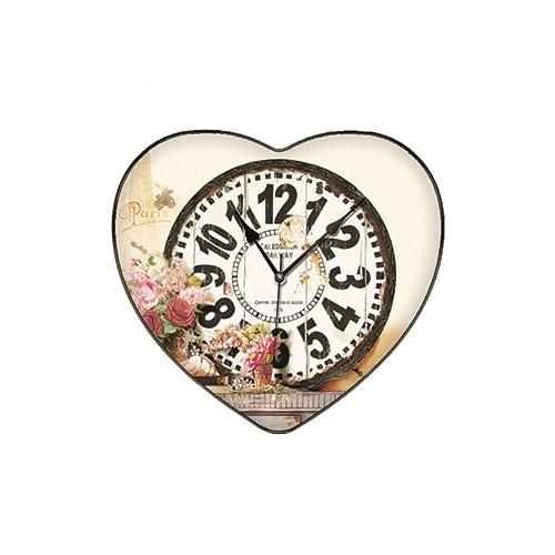 Time Gold Yasemin Duvar Saati Yaprak Çiçek