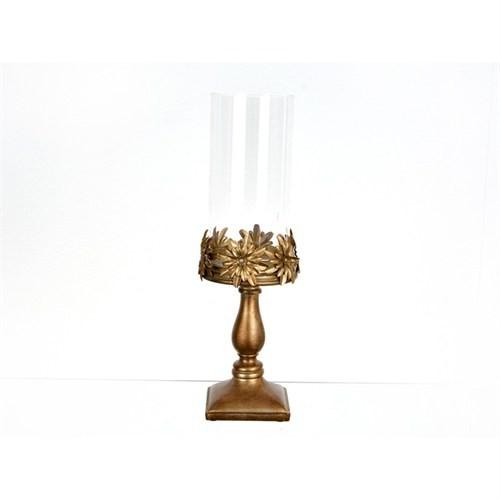 Lucky Art Bronz Camlı Masaüstü Dekor - Pw 018