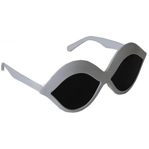 Pandoli Beyaz Dudak Şekilli Parti Gözlüğü