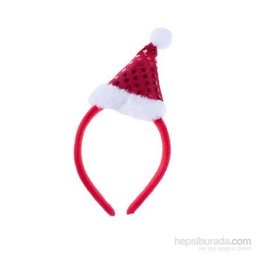 KullanAtMarket Simli Noel Şapkalı Taç