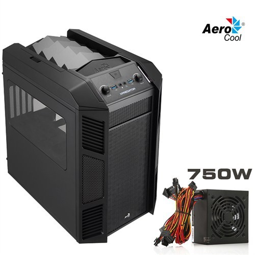 Aerocool XPredator Cube 750W 2xUSB3.0 Micro ATX Küp Kasa (AE-XPRCUBE-750VX)