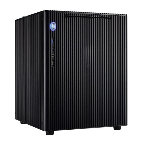Realan Micro ATX Küp Alüminyum Siyah Kasa