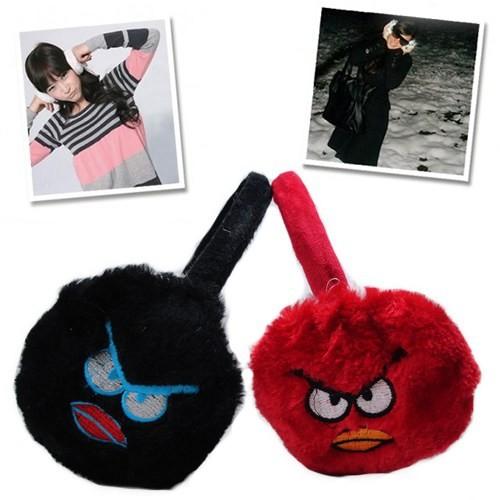 Hardymix Angry Birds Peluş Kulaklık-Kırmızı