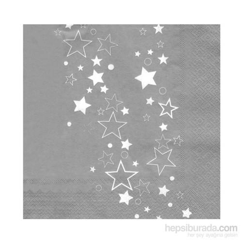 KullanAtMarket Gümüş Yıldız Kağıt Peçete