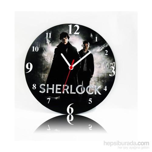 Köstebek Sherlock Ahşap Duvar Saati