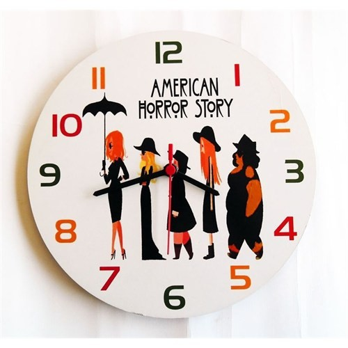 Köstebek American Horror Story Ahşap Duvar Saati