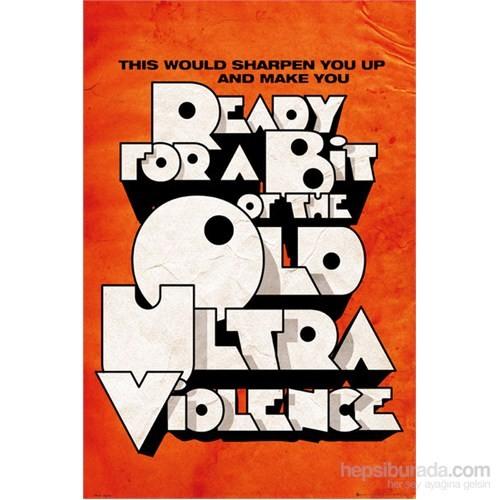 Film Quotes Orange Maxi Poster