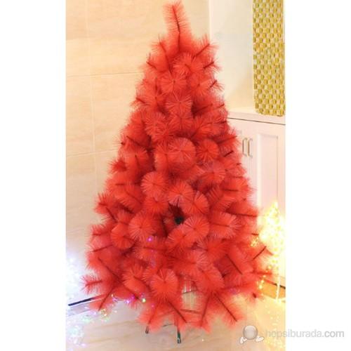 İğne Yapraklı Yılbaşı Kırmızı Çam Ağacı 180 Cm 150 Adet Dal