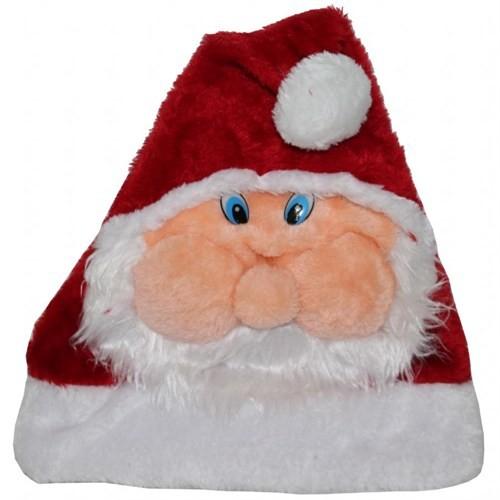 Noel Baba Figürlü Yılbaşı Tüylü Şapka