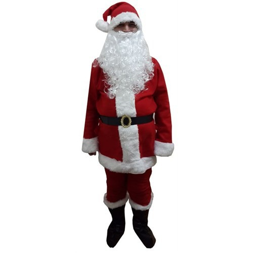 Lüx Noel Baba Kostümü Polar S Beden