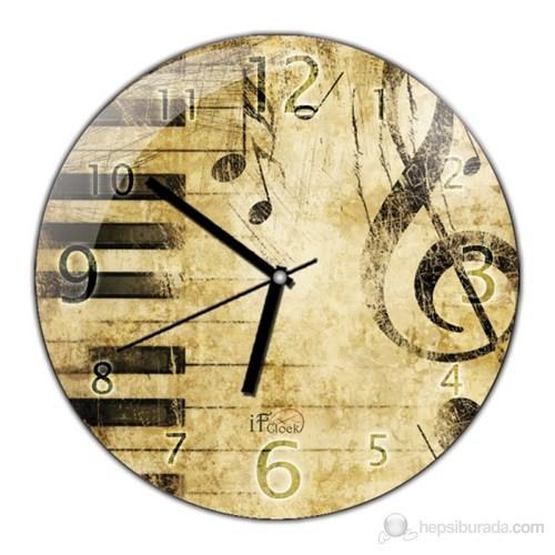 İf Clock Vintage Duvar Saati