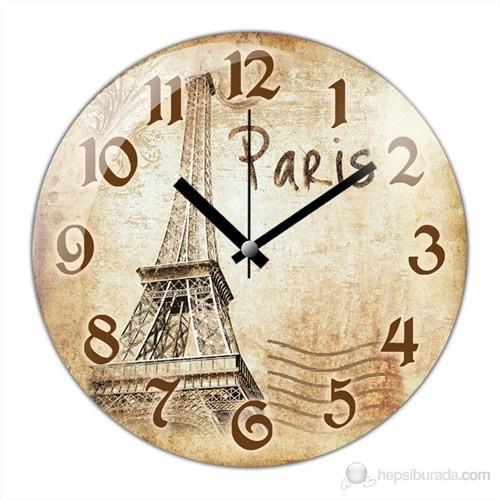 İf Clock Paris Duvar Saati