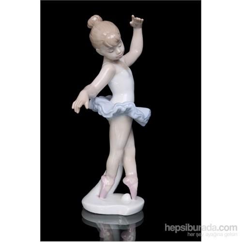 Balerin Kız Figürlü Porselen Biblo