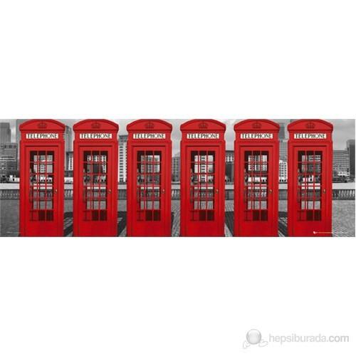 London Phoneboxes Midi Poster