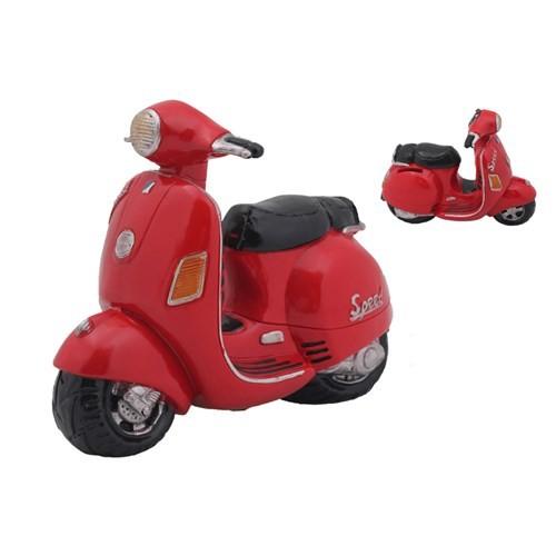 Kırmızı Motorsiklet Figürlü Kumbara