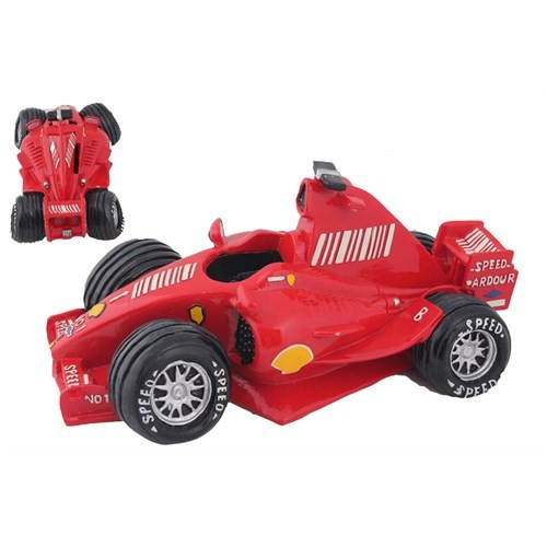 Kırmızı Ralli Arabası Figürlü Kumbara