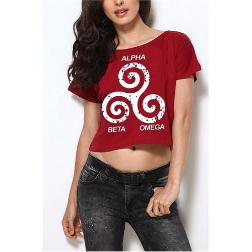Köstebek Teen Wolf - Üç Sembol Yarım T-Shirt