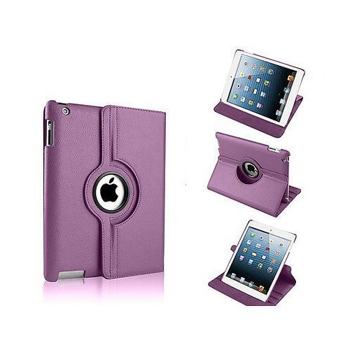 Mobile World iPad Air 360 Derece Dönebilen Mor Tablet Kılıfı Seti