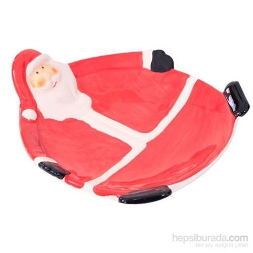 Seramik Kırmızı Noel Baba Tabak