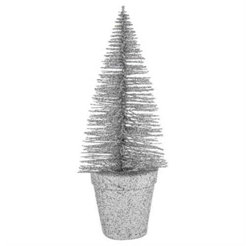 Gri Renkli Simli Çam Ağacı 18 Cm