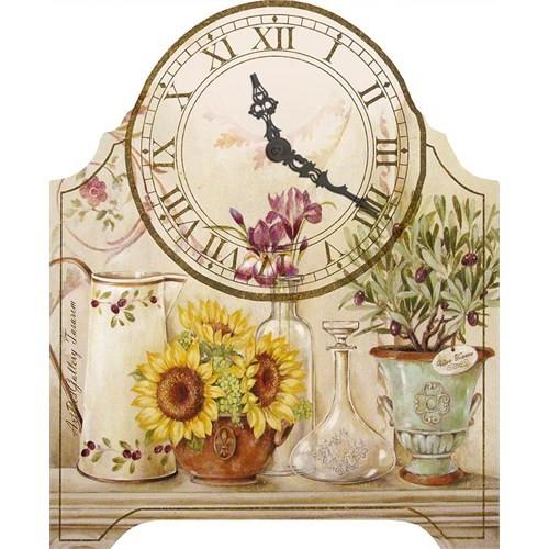 Artred Gallery 40X33 Ahşap Ayçiçeği Home Saat