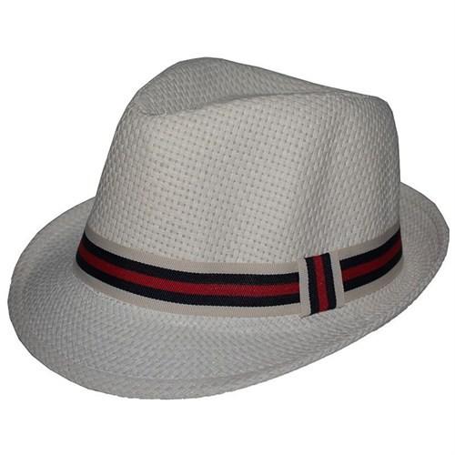 Pandoli Şeritli Beyaz Dans Gösterisi Animasyon Şapkası