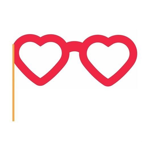 Pandoli Kalp Şeklinde Sopalı Parti Gözlüğü Konuşma Balonu