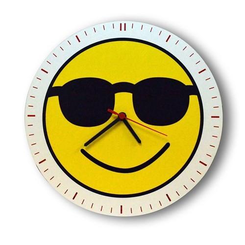 Smiley Concept Gözlüklü Emoji Duvar Saati