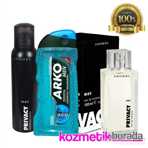 Privacy Parfüm 100 Mlerkek Edt+150 Ml Erkek Deo+Arko Duş Jeli 250 Ml