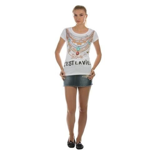 Colin's Beyaz Kadın Kısa Kol T-Shirt