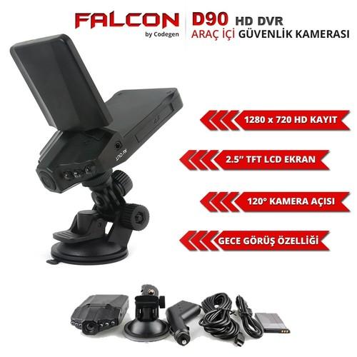 Codegen D90 HD 720p Kayıt Gece Görüşlü Araç İçi Kamera