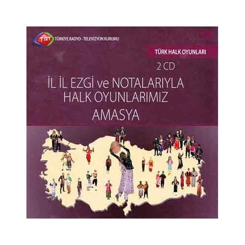 TRT Arşiv Serisi 128: İl İl Ezgi ve Notalarıyla Halk Oyunlarımız Amasya (2 CD)