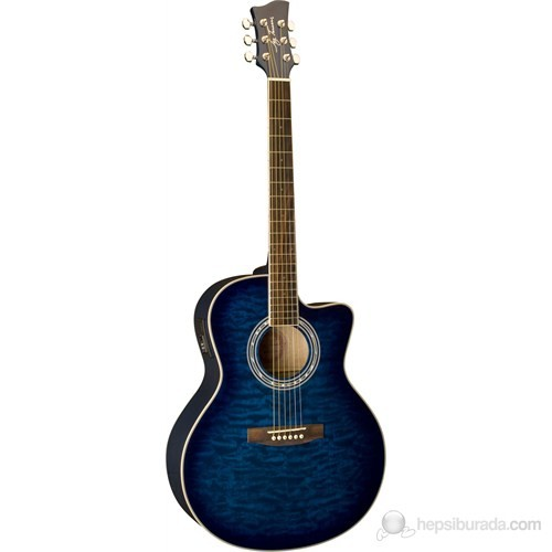 Jay Turser JTA-424QCET-BLSB Elektro Akustik Gitar