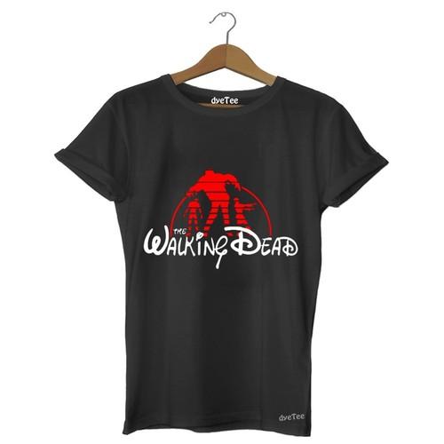 Dyetee Walking Dead Disney Bayan T-Shirt