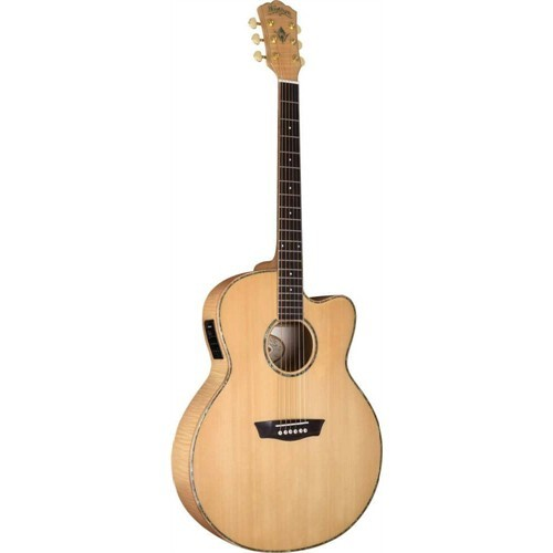 Washburn Wj45Sce Jumbo Elektro Akustik Gitar