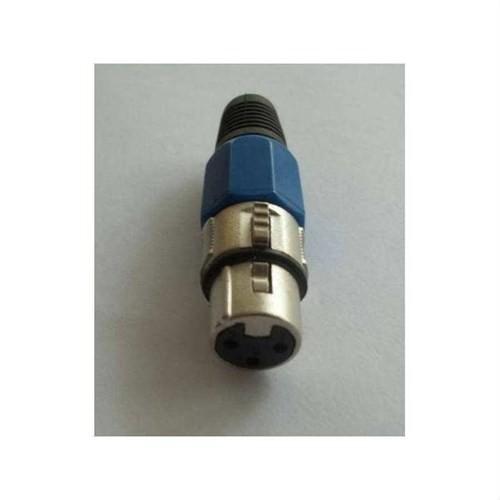 Dişi Xlr Jack Un-F100Xlr-Bl Mavi Renk