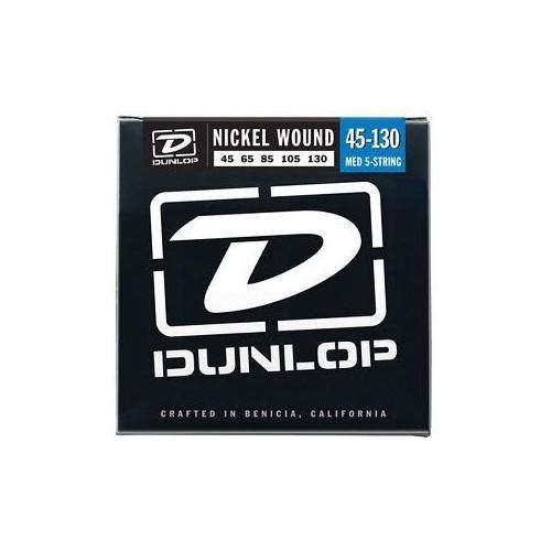 Jim Dunlop Dbn 45-130 Nickel Medium Stainless Steel Bas Gitar Tel Seti ( 5 Tel )